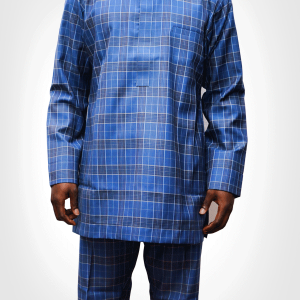 TDA Kaftan Series tartan blue