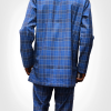 TDA Kaftan Series tartan blue by TDA Couture