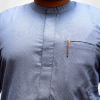 TDA kaftan series grey dotted blue by TDA Couture