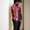The Red Stripe contrast shirt by Taris Bespoke Designs